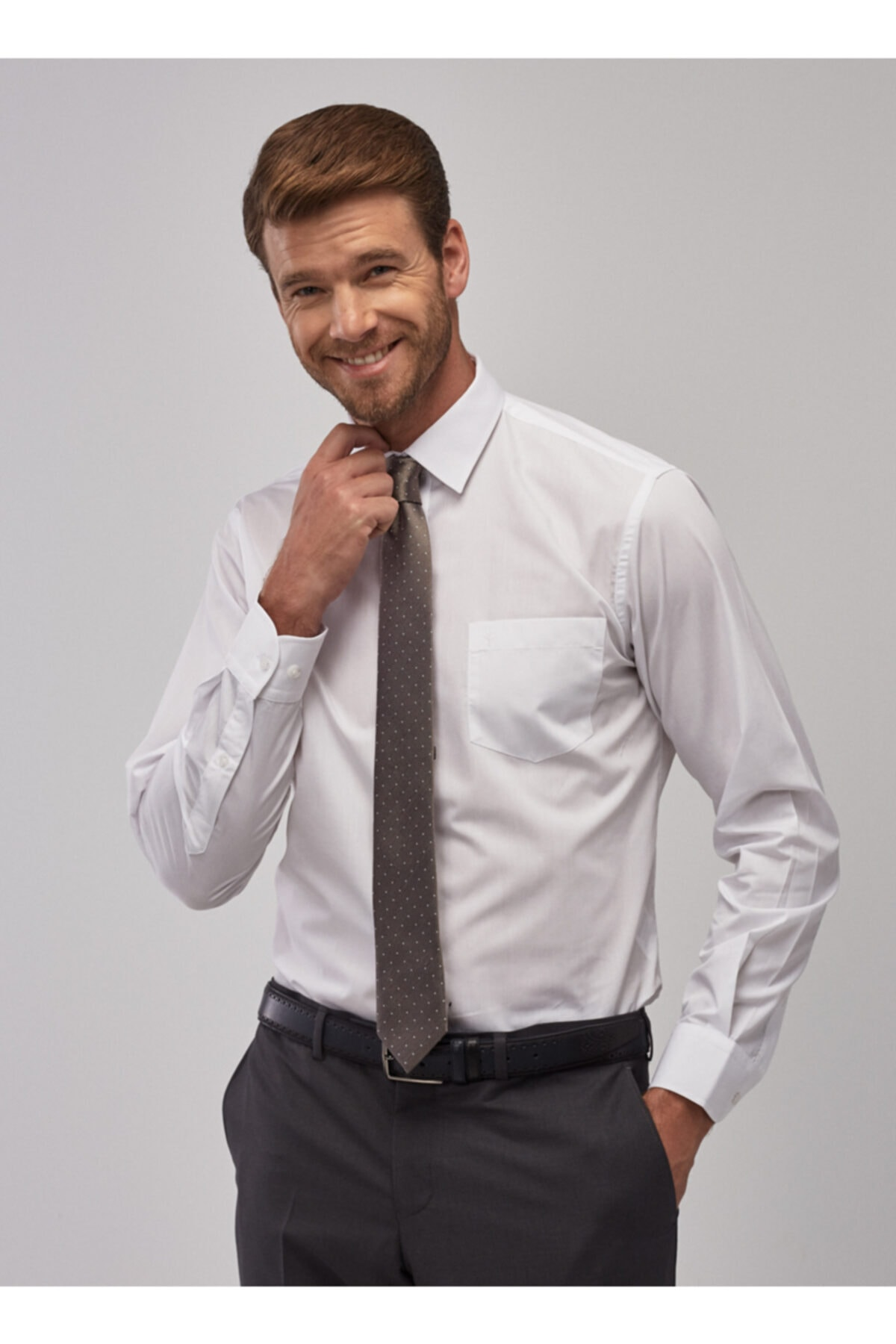 ALTINYILDIZ CLASSICS Erkek Beyaz Regular Fit Klasik Gömlek 1