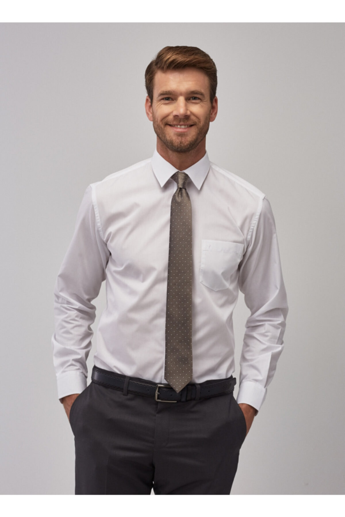 ALTINYILDIZ CLASSICS Erkek Beyaz Regular Fit Klasik Gömlek 2