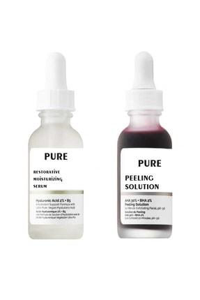 Pure Peeling Solüsyon-10 Dakikada Peeling-onarıcı Serum Ile Birlikte
