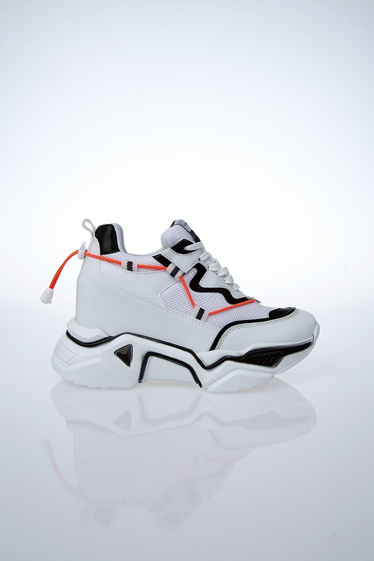 Pierre Cardin PC-30192 Beyaz-Siyah Kadın Spor Ayakkabı 1
