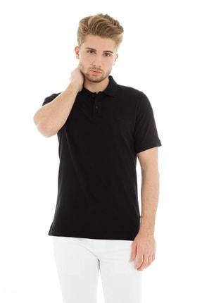 Jack & Jones JJEBASIC POLO SS NOOS Siyah Erkek Kısa Kol T-Shirt 101069443