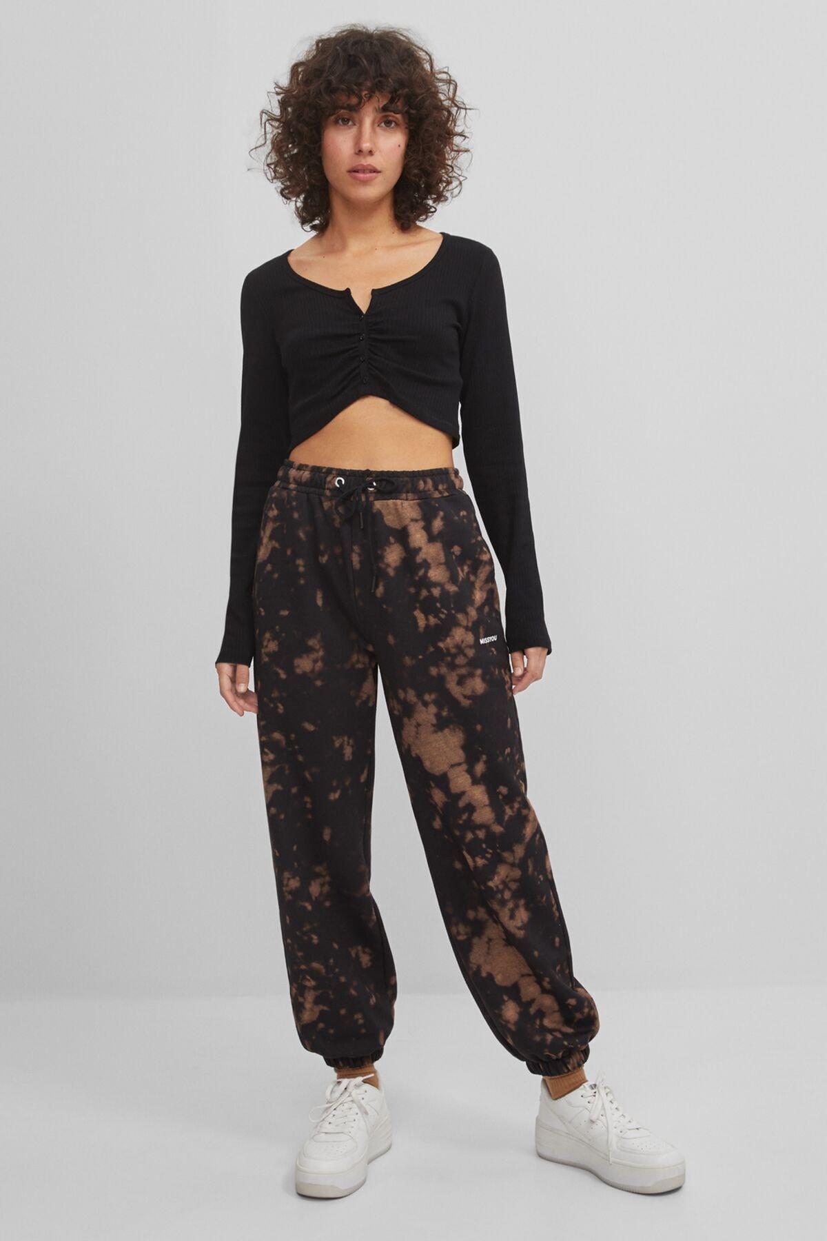 Bershka Batik Desenli Jogging Fit Pantolon 1