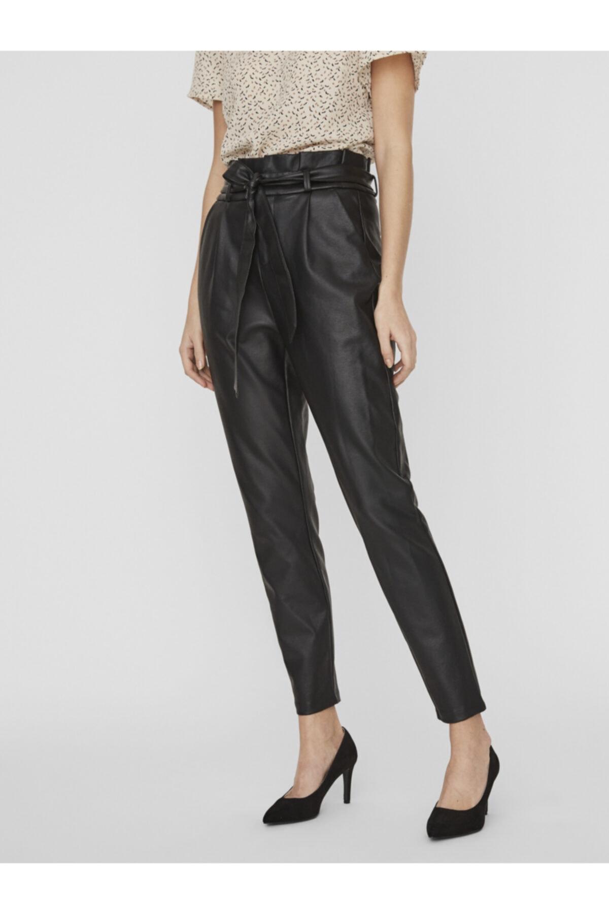 Vero Moda Kadın Siyah Paperbag Kaplama Pantolon 10232661 VMEVA 2