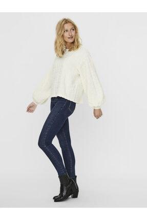 Vero Moda Kadın Ekru Volümlü Kollu Sweatshirt 10237264 VMFALLYN