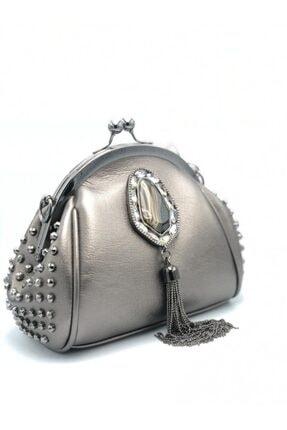 KRISTE BELL Kadın Gümüş Taşlı Çanta