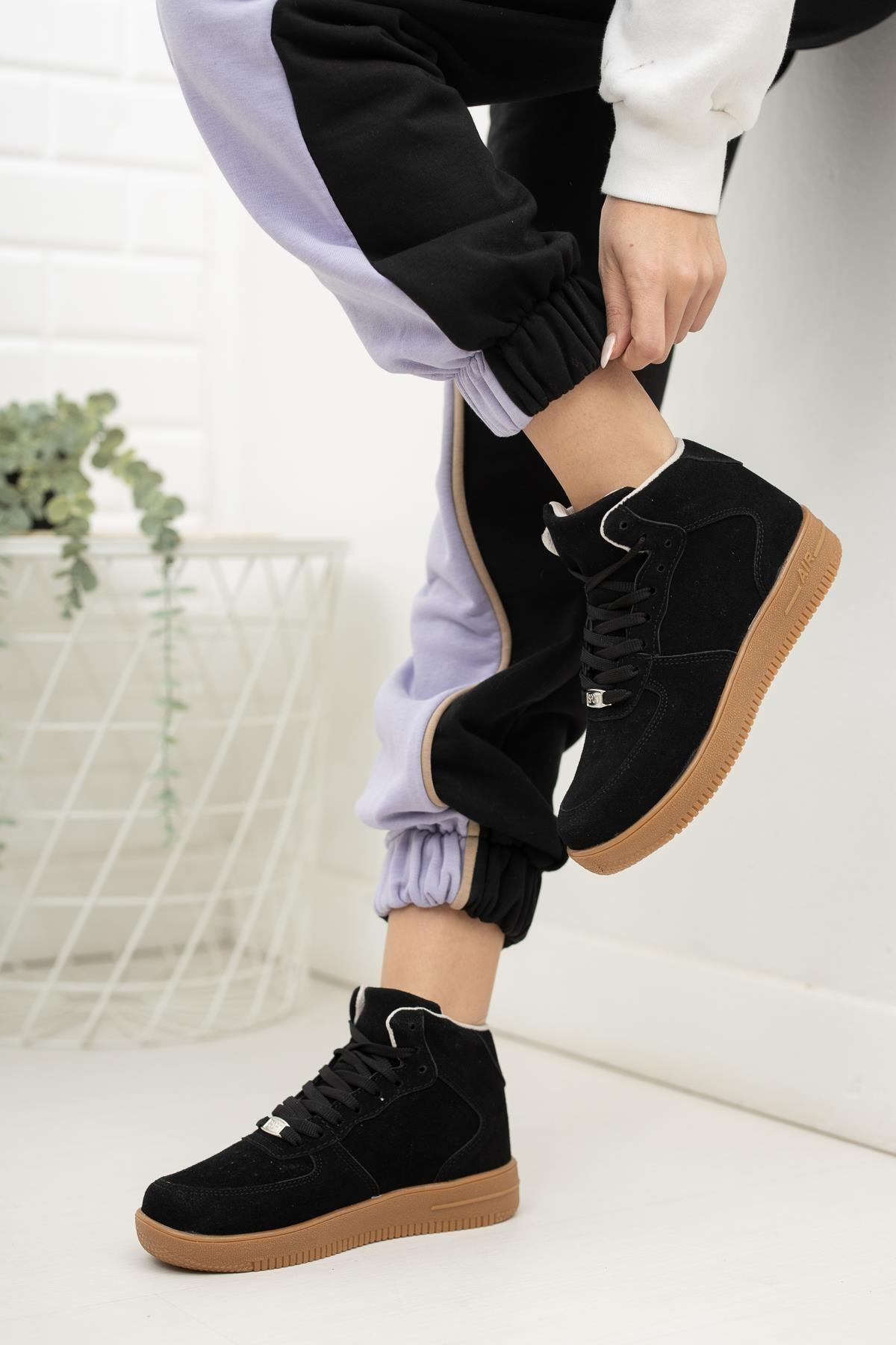 MUGGO Unisex Siyah Sneaker 1