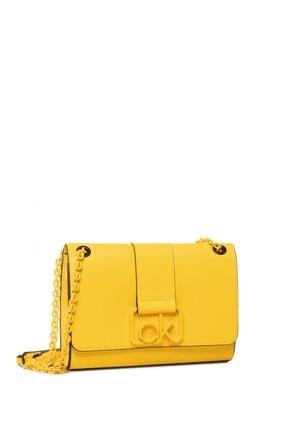 Calvin Klein Kadın Sarı Crossbody Md Çapraz Askılı Çantası K60k606350