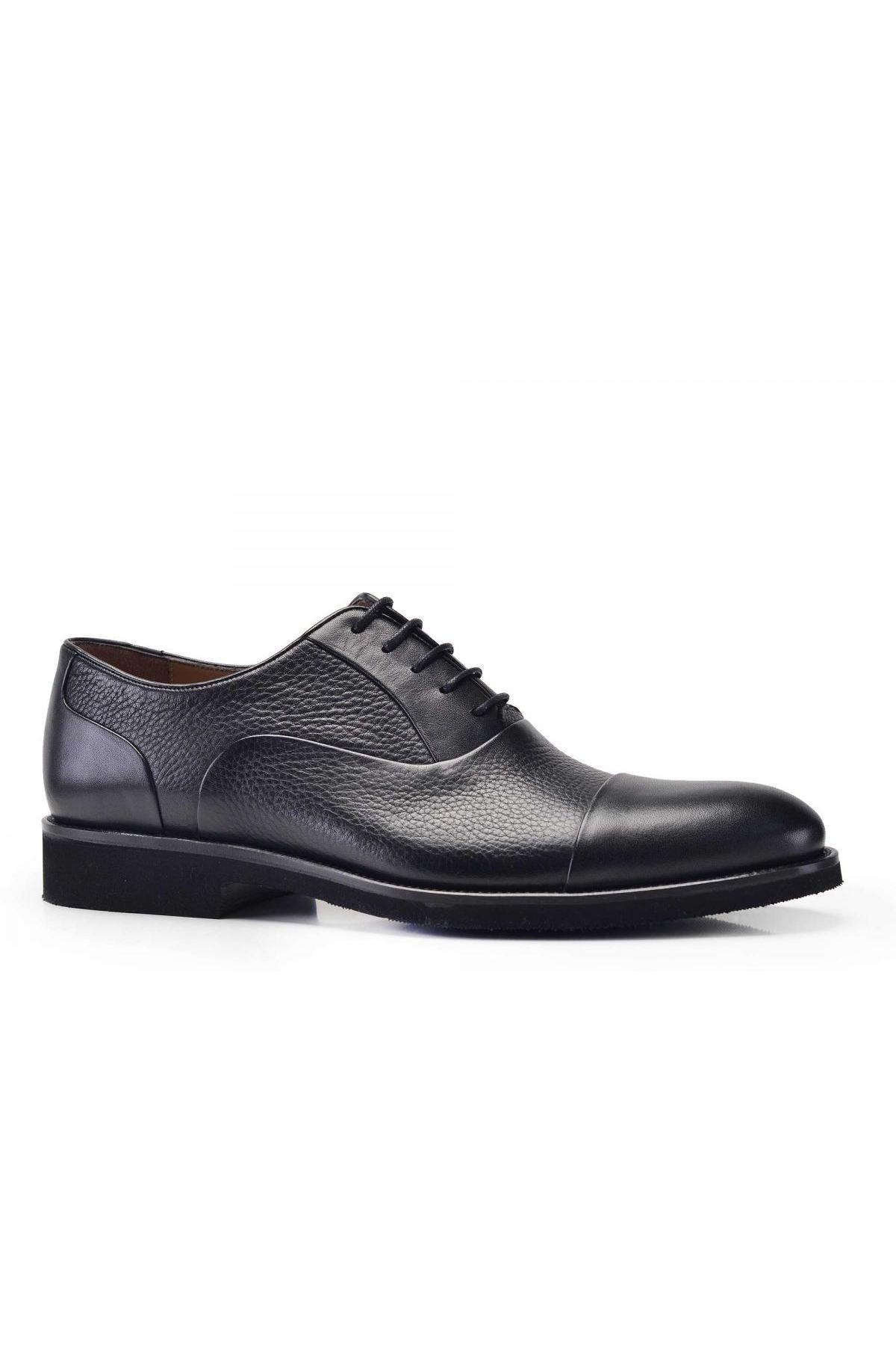 Nevzat Onay Hakiki Deri Siyah Bağcıklı Erkek Ayakkabı 2