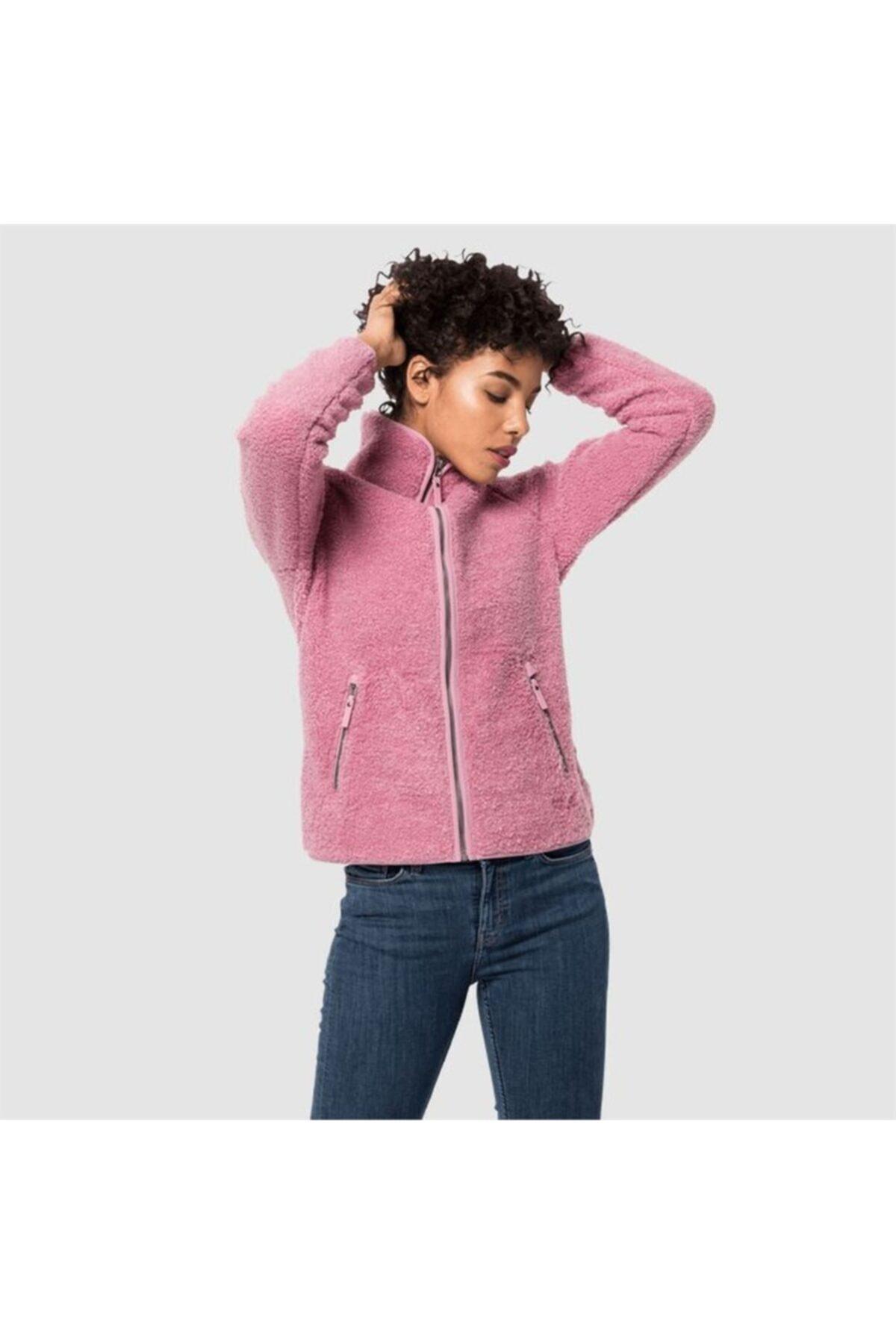 Jack Wolfskin Kadın Pembe High Cloud Jacket W Outdoor Sweatshirt 1