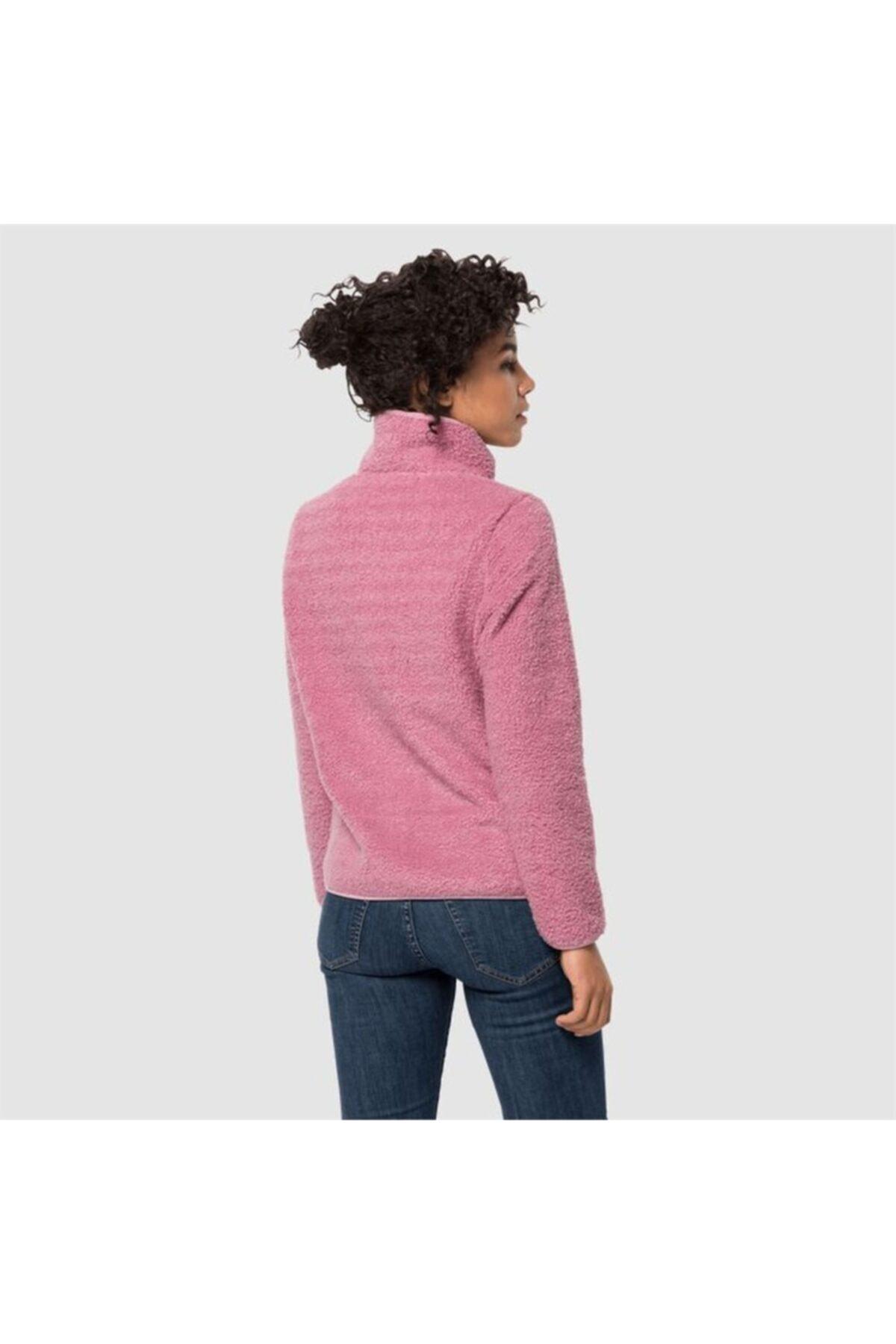 Jack Wolfskin Kadın Pembe High Cloud Jacket W Outdoor Sweatshirt 2