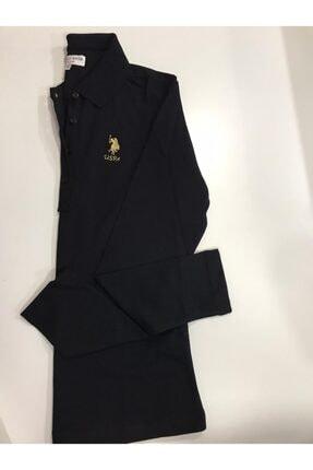 U.S. Polo Assn. Kadın Siyah Basic Sweatshırt