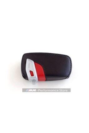 BMW Sportline Kırmızı Hakiki Deri Anahtarlık Kılıf