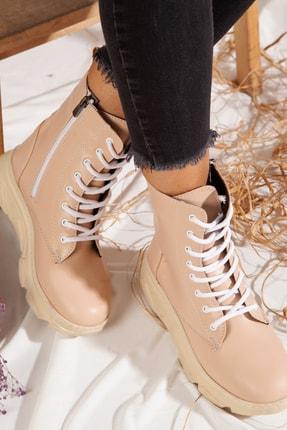 ayakkabıhavuzu Kadın Bej Bot  1775788
