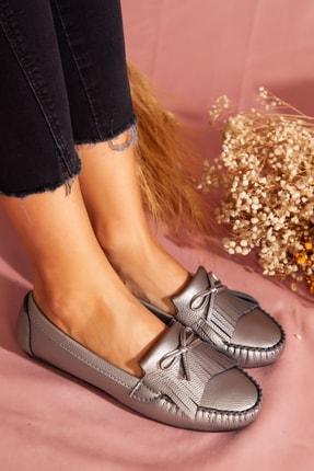 ayakkabıhavuzu Kadın Gümüş Günlük Ayakkabı  1838279