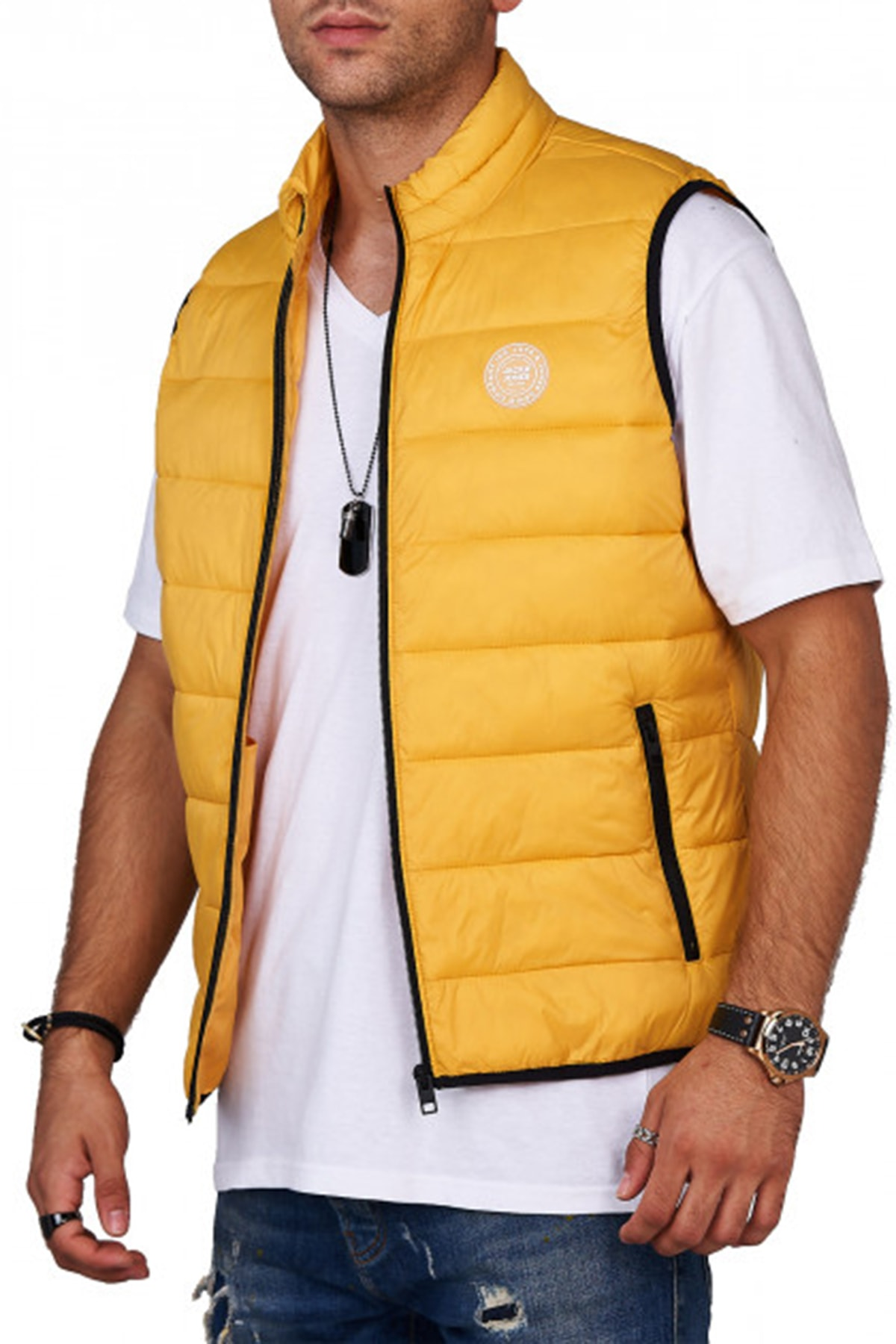 Jack & Jones Erkek JJEMAGIC BODYWARMER COLLAR STS 12173754 1