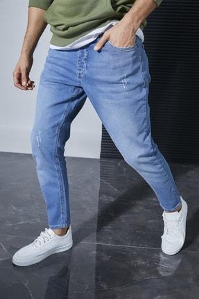 Sateen Men Erkek Mavi Denim Pantolon