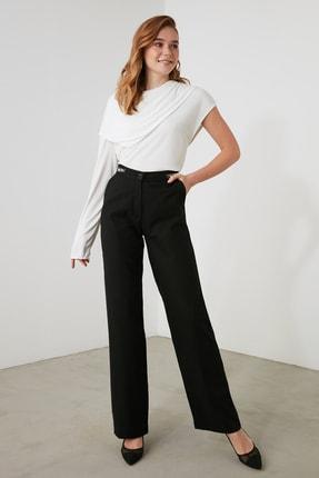 TRENDYOLMİLLA Siyah Aksesuar Detaylı Pantolon TWOAW21PL0597