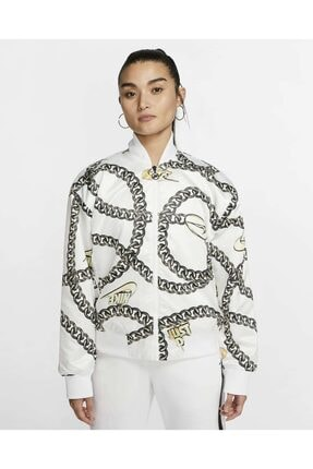 Nike Kadın Beyaz Sportswear Synthetic Fill Icon Clash Mont Cı9996 100
