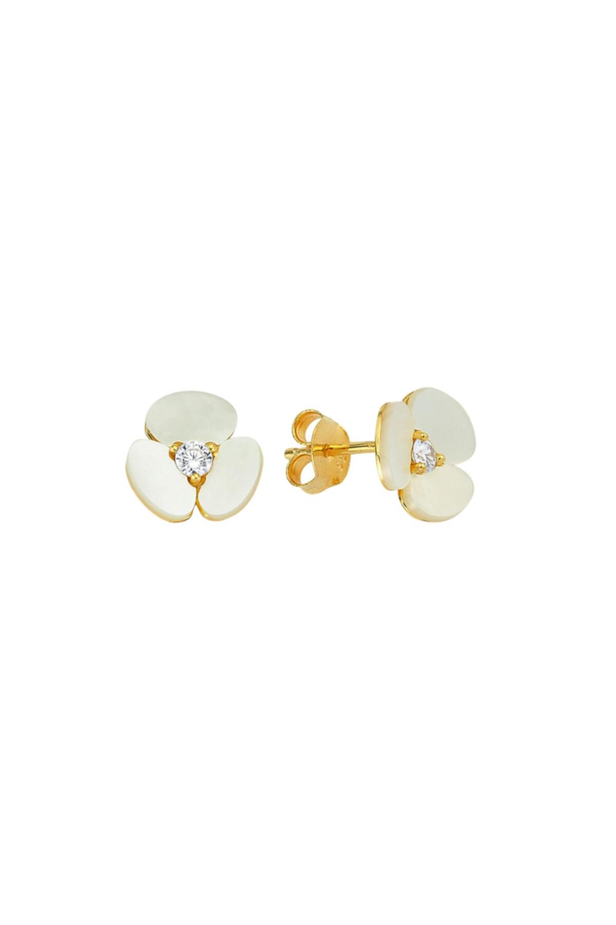Luzdemia Shell Flower Earr. 925 1