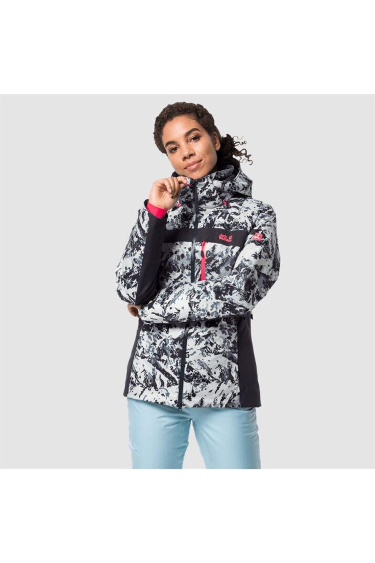 Jack Wolfskin Kadın  Siyah Beyaz Panorama Peak Jacket W Outdoor Mont 1
