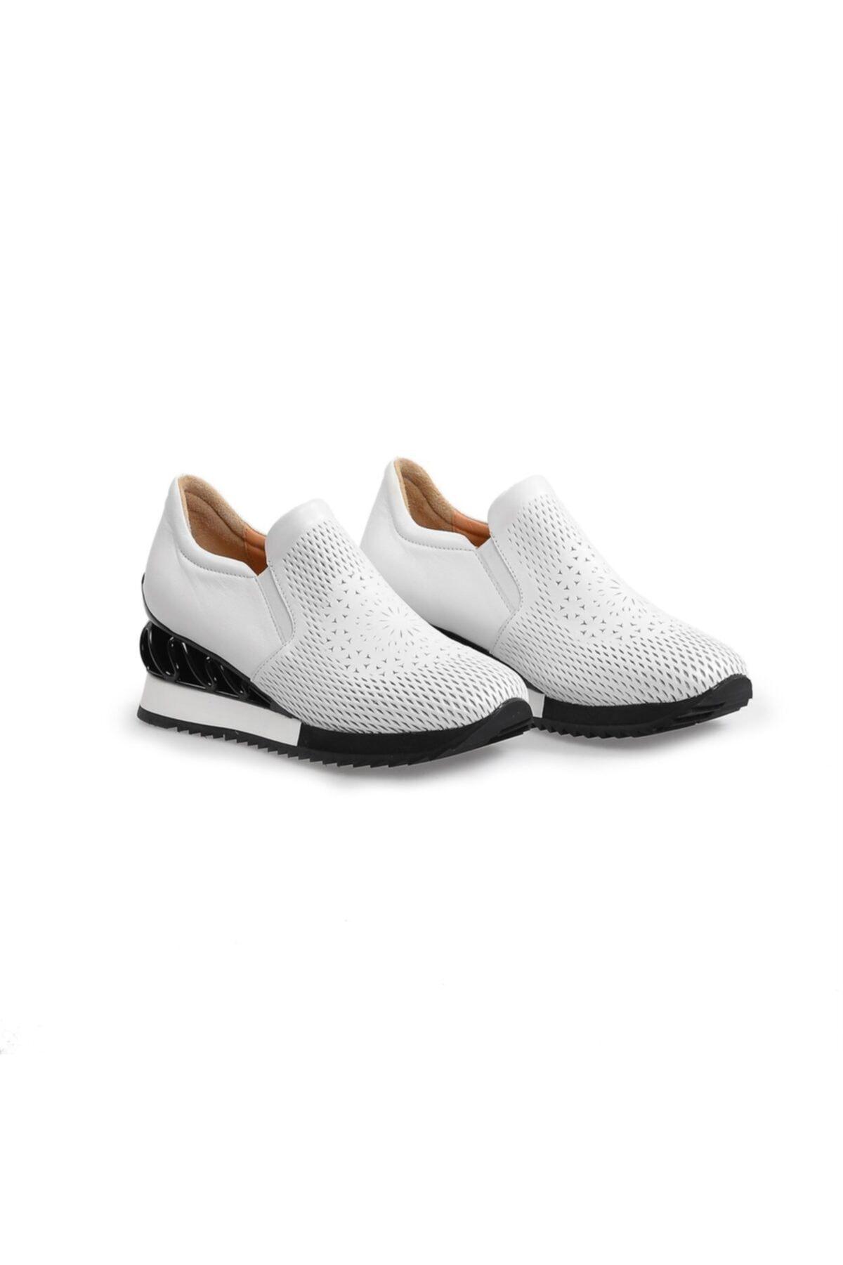 Flower Kadın Beyaz Taban Detaylı Spor Ayakkabı 2