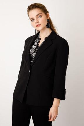 Ekol Kadın Siyah Tek Düğme Ceket
