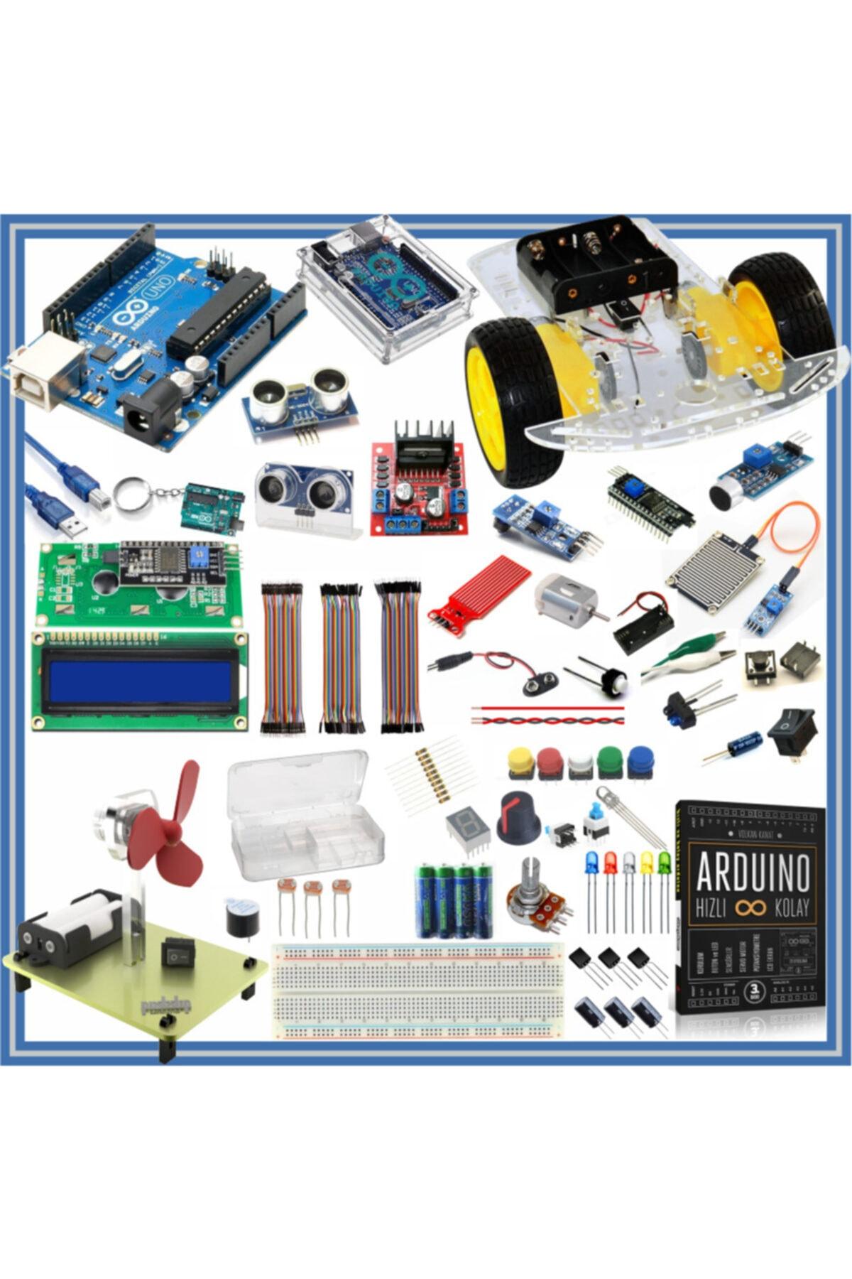 Prototip Arduino Başlangıç Seti Uno R3 ( Dıp Model ) 105 Parça 327 Adet 1