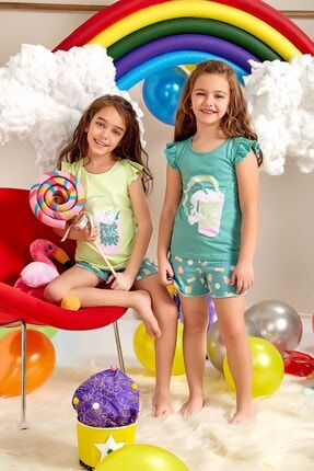 Lohusa Sepeti Kız Çocuk Milk Shake Şort Takımı - 0067 Yaş 3-9