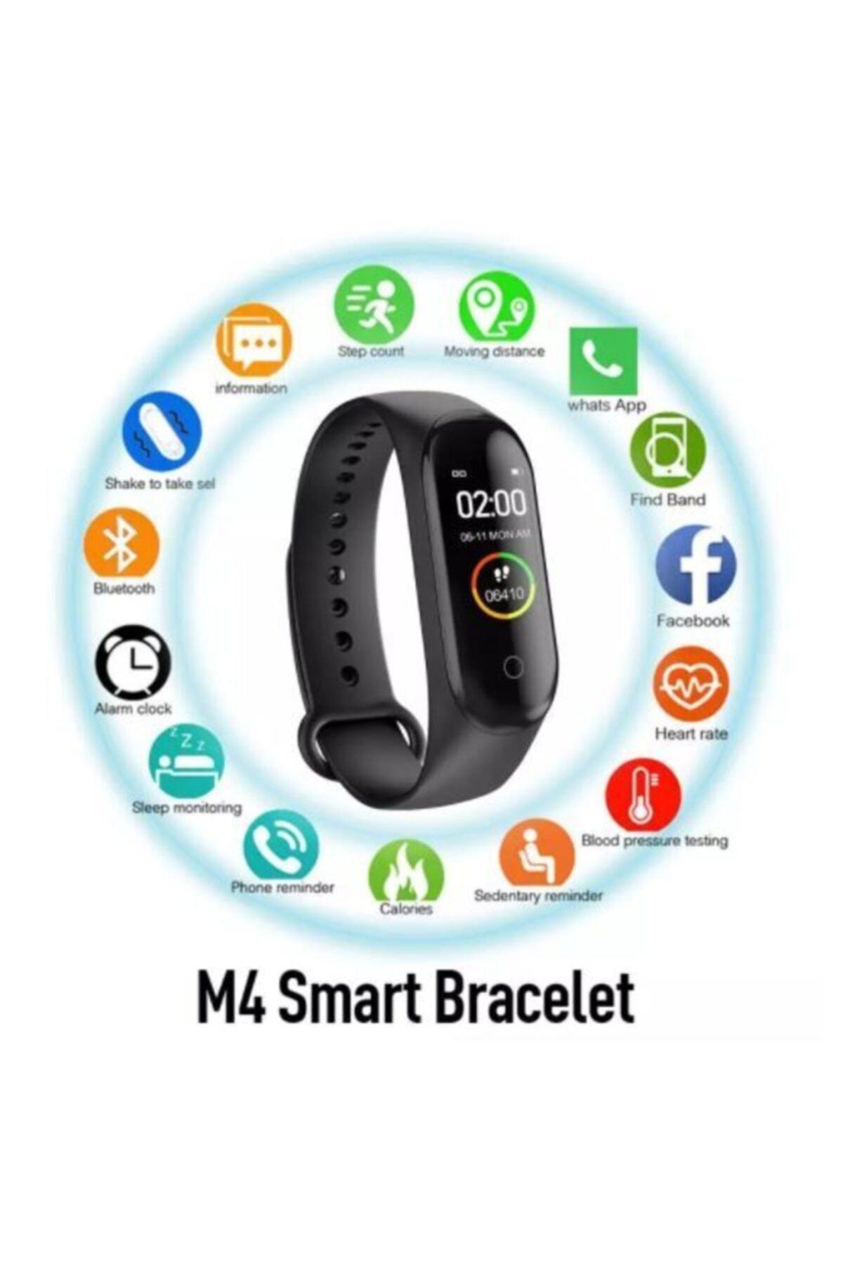 Mmctech M4 Akıllı Bileklik Saat Watch Band Kalp Ritim Koşu Spor Uykutakip 1