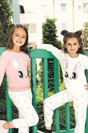 Lohusa Sepeti Kız Çocuk Tavşan Pijama Takımı - 3-9 Yaş - 0015