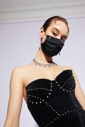 DIZAYN MASK Siyah Yıkanabilir Gümüş Iyon Bez Maske
