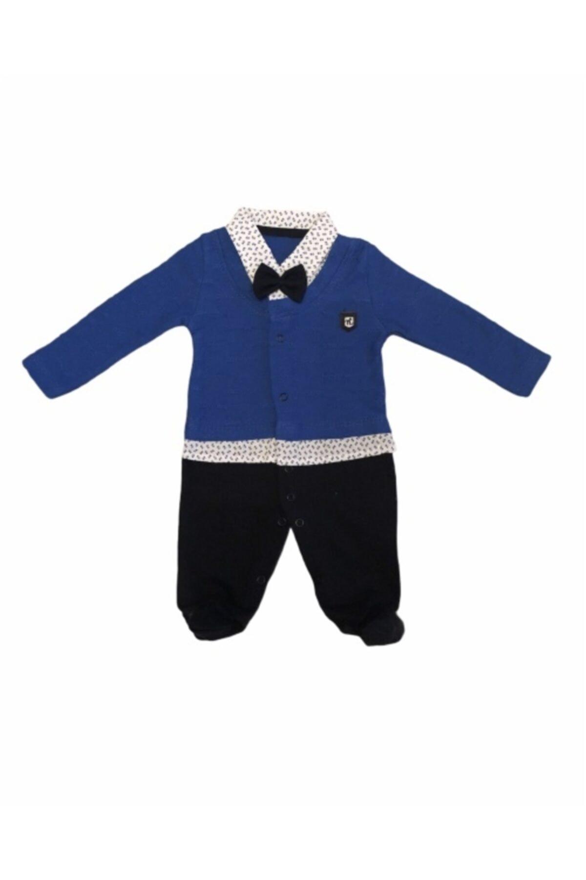 Necix's Erkek Bebek Mavi Papyonlu Patikli Tulum 1