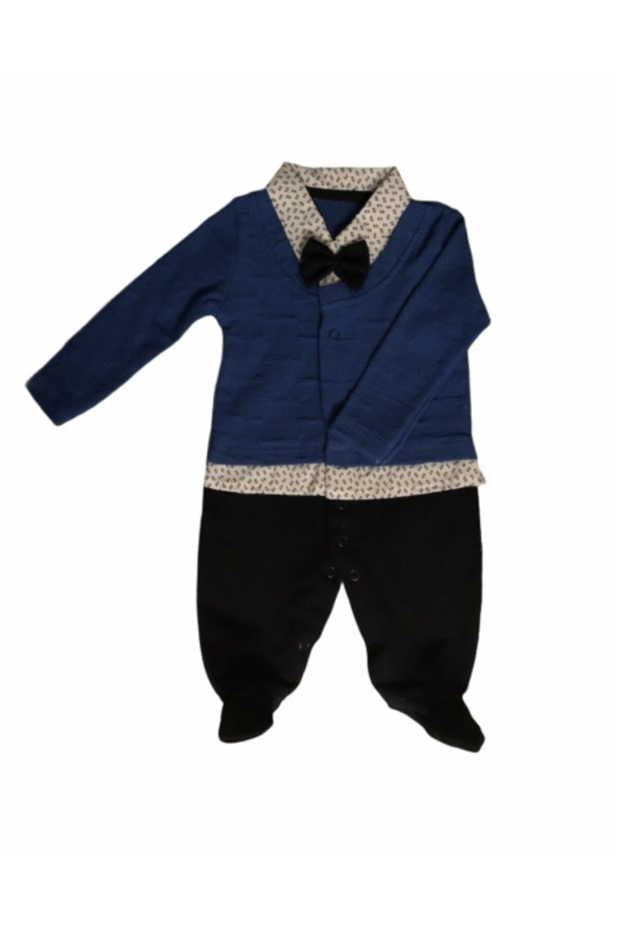 Necix's Erkek Bebek Mavi Papyonlu Patikli Tulum 2