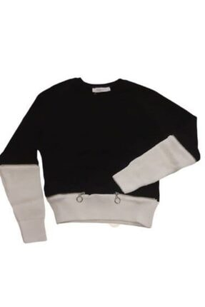 Marions Kız Çocuk Siyah Kolları Triko Bluz