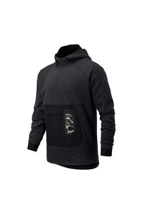 New Balance Erkek Siyah Sweatshirt Mt03176-hc
