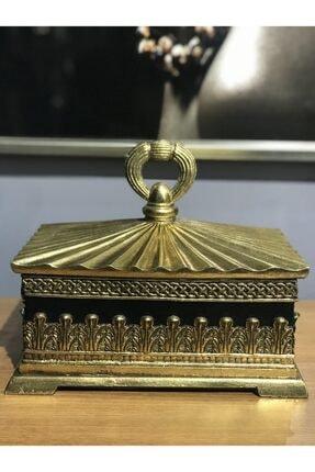 Porio Altın Siyah Kapaklı Kutu