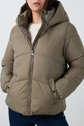 Vero Moda Kadın Haki Regular Fit Kapüşonlu Şişme  Mont 10232606
