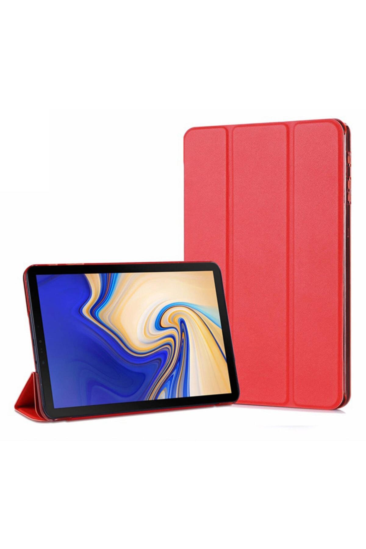 Microsonic Galaxy Tab A 10.5'' T590 Smart Case Ve Arka Kılıf, Microsonic Kırmızı 1