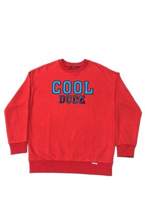 BREEZY Erkek Kırmızı Cool Dude Sweatshirt