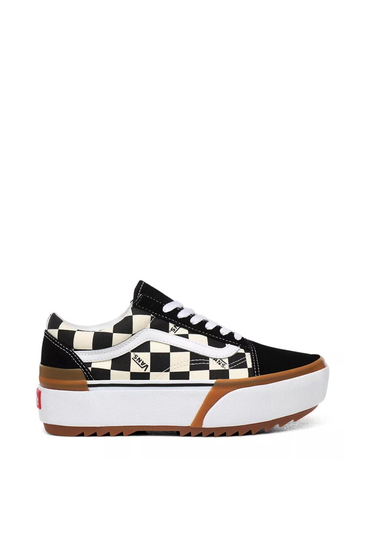 Vans Checkerboard Old Skool Stacked Kadın Ayakkabısı Vn0a4u15vlv1 1