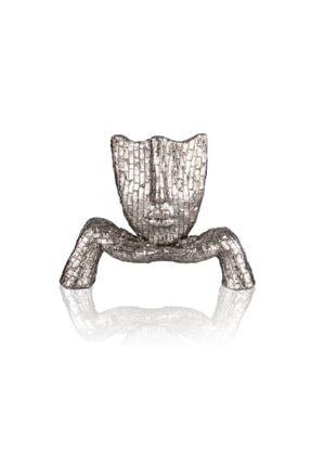 Porio Gümüş Kadın Biblo 28 cm