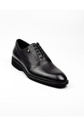 MARCOMEN Erkek Siyah Deri Klasik Ayakkabı