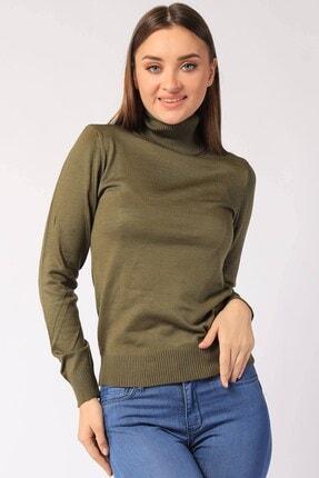 Twister Jeans Kadın Haki Boğazlı Triko 32805