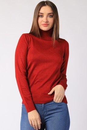 Twister Jeans Kadın Bordo  Boğazlı Triko 32805