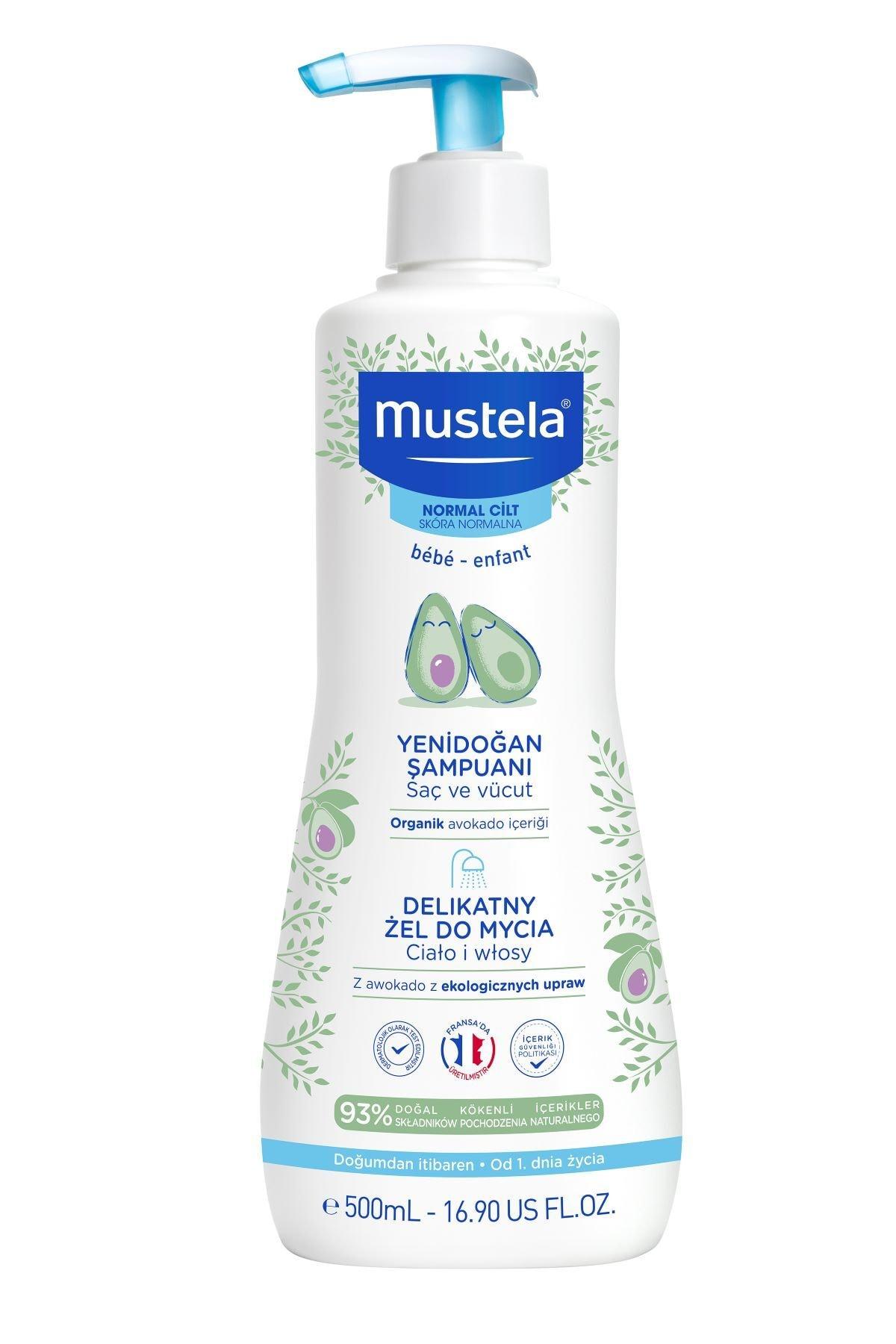 Mustela Gentle Cleansing (Dermo Cleansing) Yenidoğan Saç Vücut Şampuanı 500 Ml 1