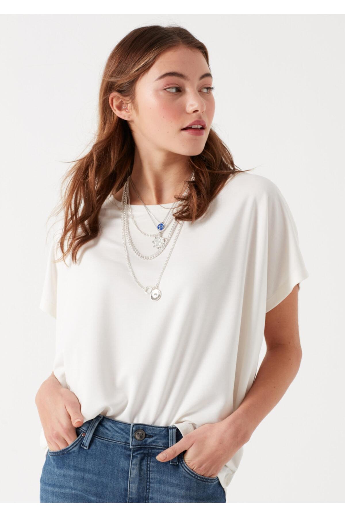 Mavi Beyaz Modal Tişört 1