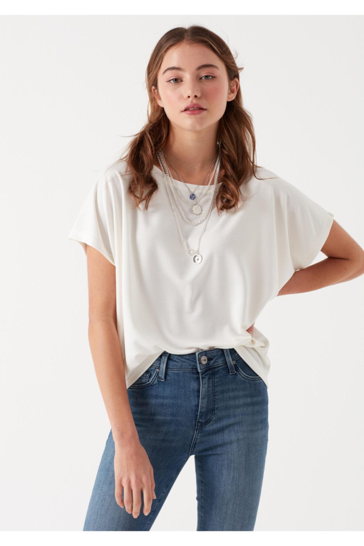 Mavi Beyaz Modal Tişört 2