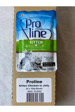 """Pro Line Proline Yavru Kediler Için """"tavuk Etli"""" Yaş Mama 20x100g"""