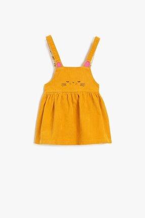 Koton Kız Çocuk Elbise Hardal
