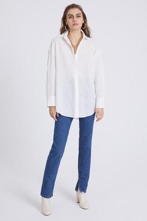 STELLA PULVIS Kadın Beyaz Oversize Gömlek